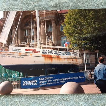 1995-Birmingham-Lisa Clayton -world boat tour-worlds first. - Photographs