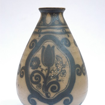 italian art nouveau pottery vase by GALILEO CHINI