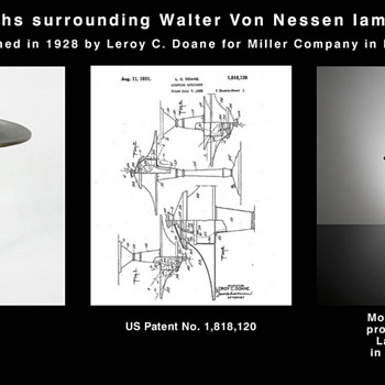 The many faces of &quot;Doane&quot; lamp - Who really designed Walter von Nessen lamp?