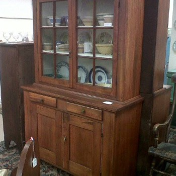 Antique step back cupboard