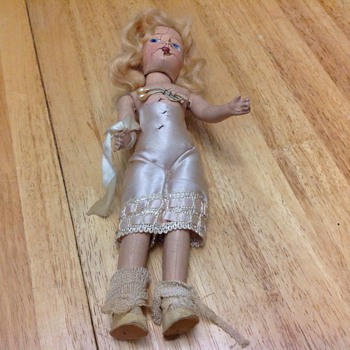 antique wooden doll  - Dolls