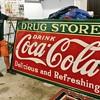 1935 porcelain Coca-Cola Drug Store monster sign.  8x4