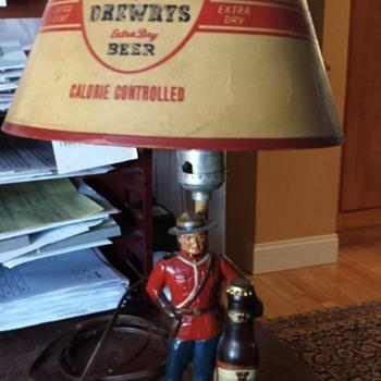 Vintage Drewry's Beer Lamp