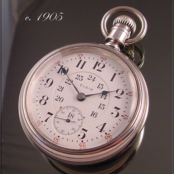 Elgin B.W. Raymond Railroad Pocket Watch - Pocket Watches