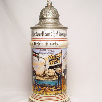 Imperial German reservist's stein of Seaman Netz