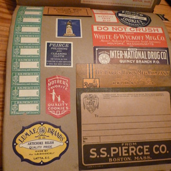 1930s Label Samples Book
