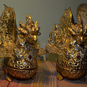 Pair of Garuda - Vishnu's Mount and Confidante - Asian