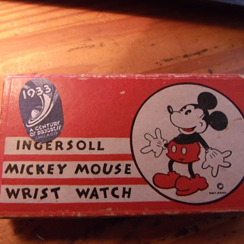 "The ""First"" Issue Mickey Mouse Watch- Chicago World Fair Model - Wristwatches"