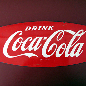 Fishtail Rack Sign - Coca-Cola