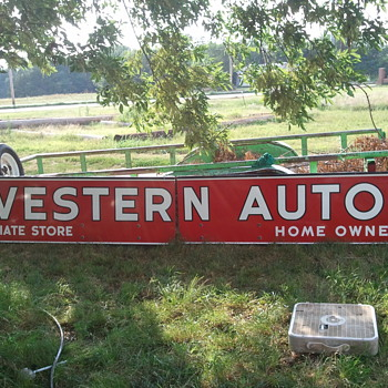 WESTERN AUTO porcelain - Advertising