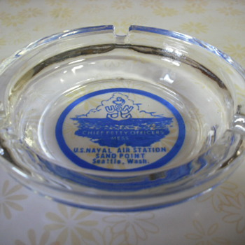 Ashtray from CPO&#039;s mess - Military and Wartime