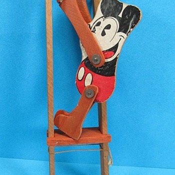 Early Mickey Mouse Squeeze Toy 1930s - Toys