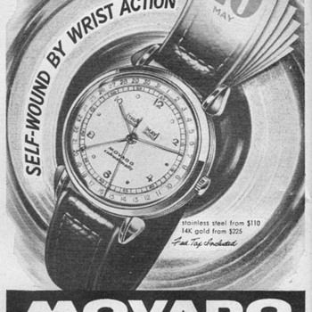 1948 - Movado Calendomatic Watch Advertisement - Advertising