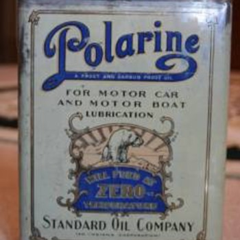 Early 20's Polarine Oil Can - Petroliana
