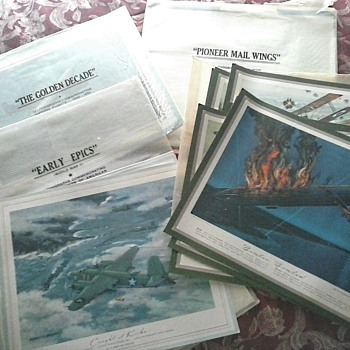 Huge Lot of Charles Hubble Aviation Lithograph Prints Reproduced from TRW Inc. Calendars /Circa 20th Century  - Visual Art