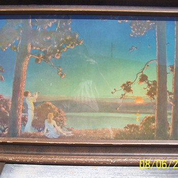 Maxfield Parrish, Original Frame, 1920ish  Curtis Publishing Co.