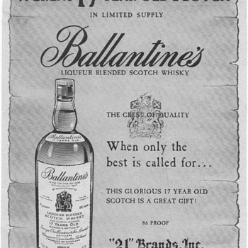 1953 Ballantines Scotch Whisky Advertisement