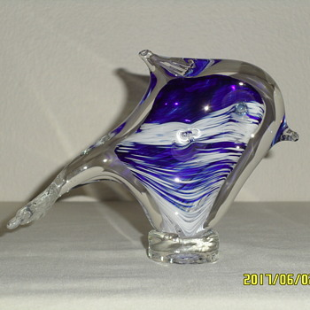 NOSLO Art Glass Dolphin - Art Glass