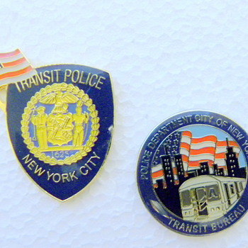 New York Transit Police Pins - Railroadiana