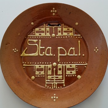 brouwer spreukschotel (tekstplate) - Art Pottery