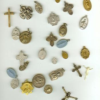 Vintage Catholic Medallions