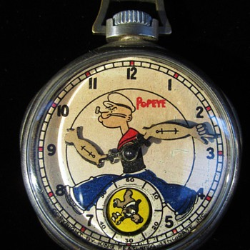 1935 New Haven Popeye Pocket Watch