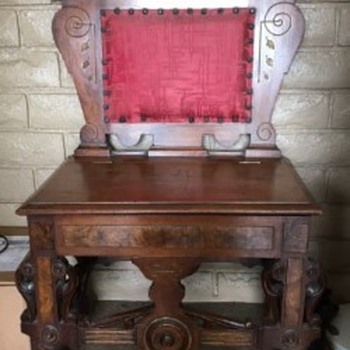 antique chair that opens.