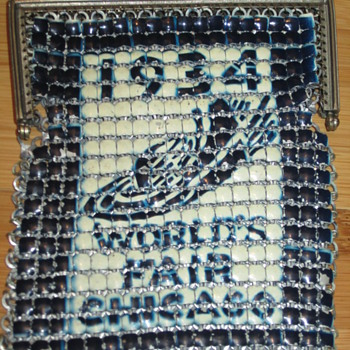 1934 Chicago World's Fair Witing and Davis mesh purse.