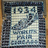 1934 Chicago World&#039;s Fair Witing and Davis mesh purse. 