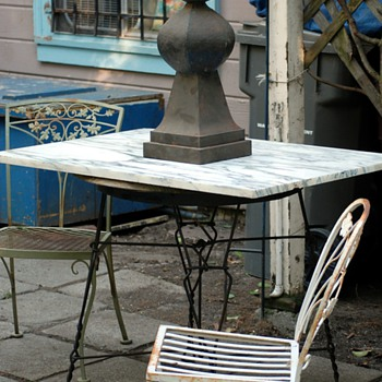 Twisted Iron Ice Cream Parlor Table