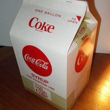 1960s cardboard Coca-Cola syrup carton - Coca-Cola