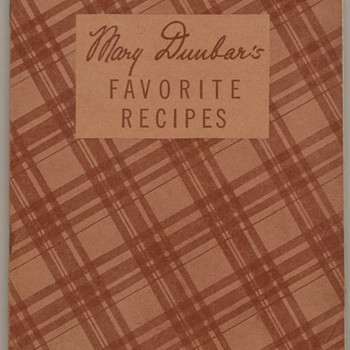 1936 - Mary Dunbar's Favorite Recipes - Jewel Tea Co.