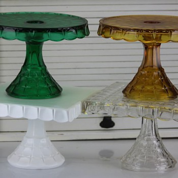 Indiana Glass 'Constellation' cake stand collection