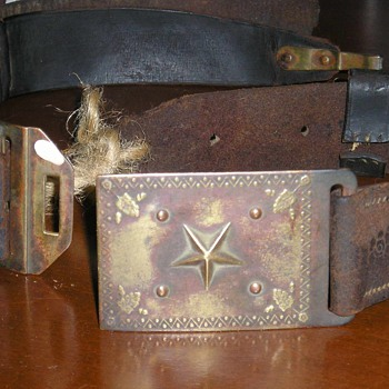 Rare Texas Militia Belt Plate  - Military and Wartime