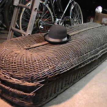 Wicker casket 1800&#039;s.