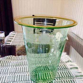 Depression Glass Vase ??? - Glassware
