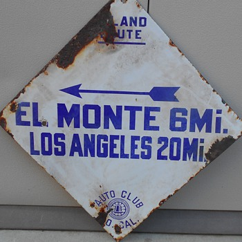 blue diamond sign EL MONTE/LOS ANGELES - Signs