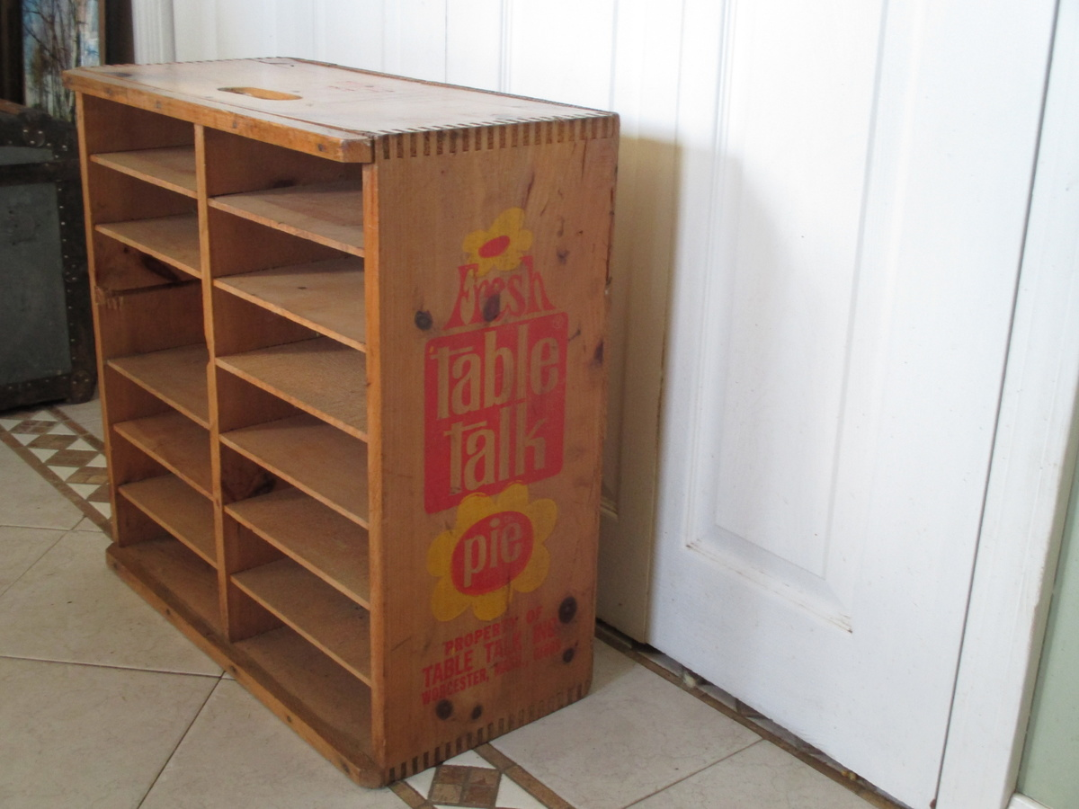Table talk wooden pie crate collectors weekly