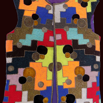 #10 ~ 1970 Psychedelic Mod Vest by London Designer Mr. Fish  - Mens Clothing