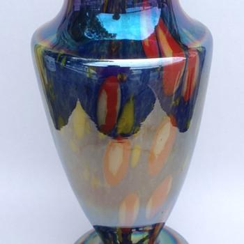 Kralik iridescent millefiori vase