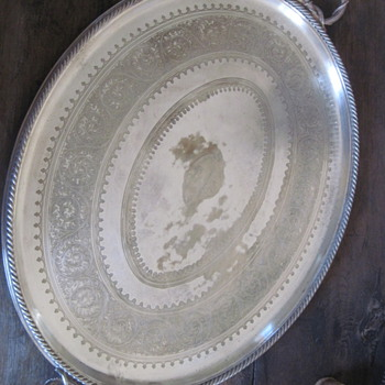  1884 Elkington Silver (on Copper) Platter 
