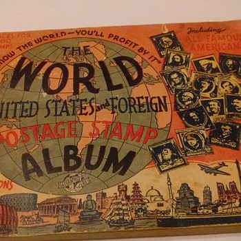 WORLD  US AND FOREIGN POSTAGE  STAMP ALBUM