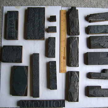 Unusual antique letterpress cuts - Office