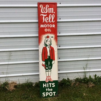 William tell oil sign