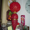 Red Satin GWTW lamp