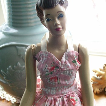 "Mannequin doll by Fashiondol 1940's 12 1/2"" Tall  - Sewing"