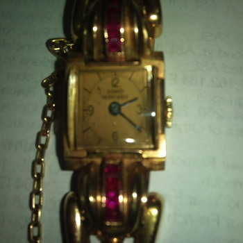 1964 Womans GIRARD PERREGAUX watch w/rubies - Wristwatches