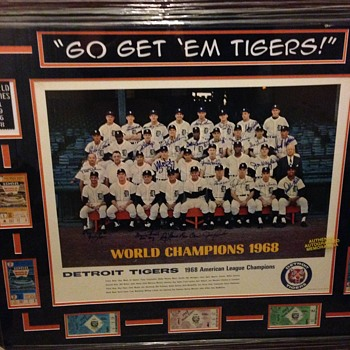 '68 World Champions- Detroit Tigers- Autographed Team Photo- Huge