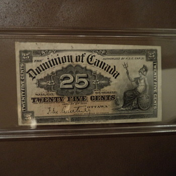 1900 Dominion Of Canada Twenty Five Cents Note