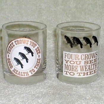 """Old Crow"" Whiskey Glasses"